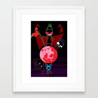 invader zim Framed Art Prints featuring Invader Zim by Toyosato