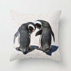 Penguins of Boulder Beach Throw Pillow