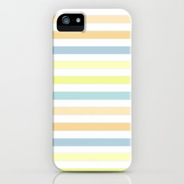 Horizontally striped , pastel 3 iPhone Case