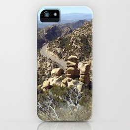 Road to the Desert Mountain iPhone Case