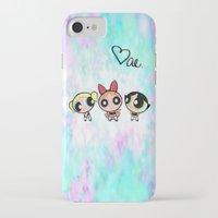 powerpuff girls iPhone & iPod Cases featuring Powerpuff Girls by Mind of Bae