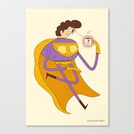 Man of Tea Canvas Print
