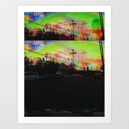 Falling Sunset Art Print