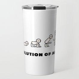 Evolution of Man PC master race Travel Mug