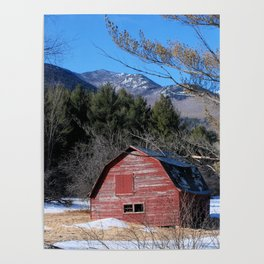 Deserted Barn in the Adirondacks Poster