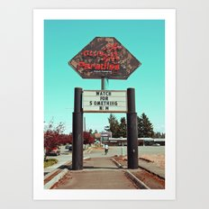 Roadside paradise Art Print