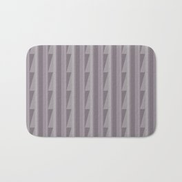 Modern Geometric Pattern 8 in Aubergine Bath Mat