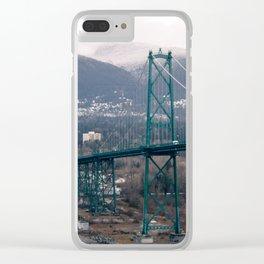 Lion's Gate Bridge Clear iPhone Case