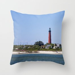 Sunny Day at Ponce Inlet Throw Pillow