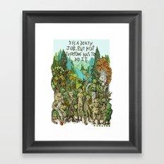 Dirty Job Framed Art Print