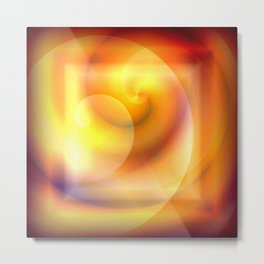 Spiraled Square Abstract Metal Print