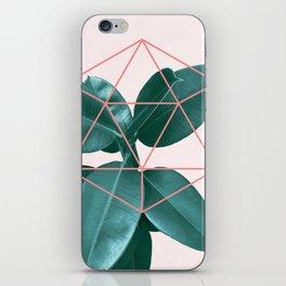 Geometric greenery II iPhone Skin