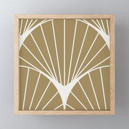 Diamond Series Round Sun Burst White on Gold Framed Mini Art Print