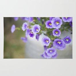 Violets in a Milk Churn Rug