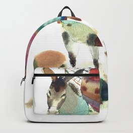 Watercolor cute donkey kids illustration Backpack