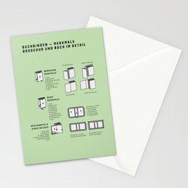 Buchbinden – Merkmale Broschur und Buch im Detail (in German) Stationery Cards