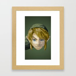 Triangles Video Games Heroes - Link Framed Art Print