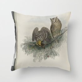 036 Scops zorca. Scops Eared Owl Throw Pillow