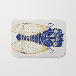 Cicada – Navy & Gold Bath Mat
