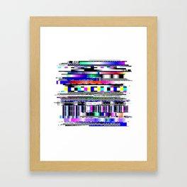 Glitch Ver.1 Framed Art Print