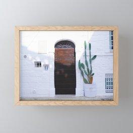 Summer and cactus Framed Mini Art Print