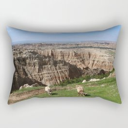 Bighorn Sheep At Sage Creek Rectangular Pillow