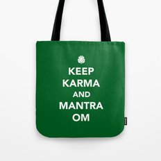 Keep Karma And Mantra Om Tote Bag