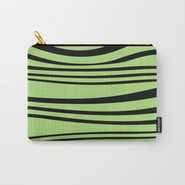 Stripes wave Graphic green Carry-All Pouch