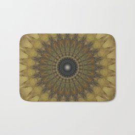 Mandala in golden tones Bath Mat