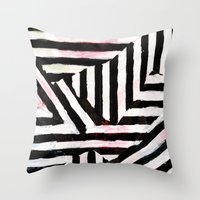 striped Throw Pillows featuring Striped by ST STUDIO