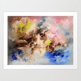 The confrontation of the clouds. Bright abstract art. Art Print