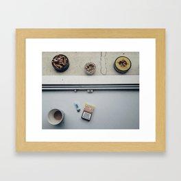 Coffee & Cigs in Zurich Framed Art Print