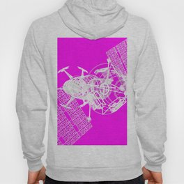 Explorer White on Pink Hoody