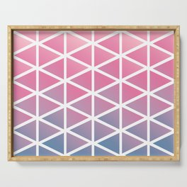 chalky pastel pink triangles Serving Tray