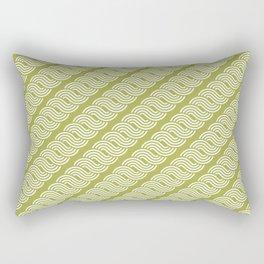 shortwave waves geometric pattern Rectangular Pillow