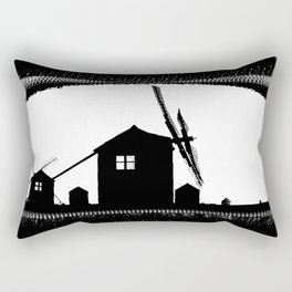 Windmill At Dusk Rectangular Pillow