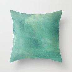 Turquoise Stone Texture Throw Pillow