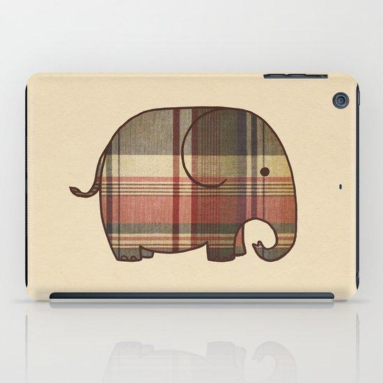 Plaid Elephant  iPad Case