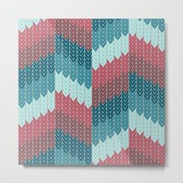 Knit Metal Print