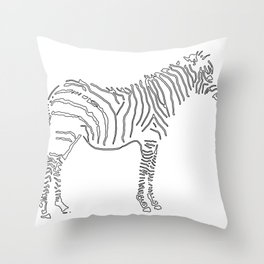 Stunning Black and White Zebra Throw Pillow