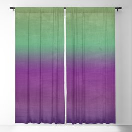 Plum Purple and Green Watercolor Abstract Blackout Curtain