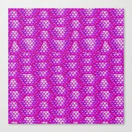 Magenta Snake Skin Pattern Canvas Print