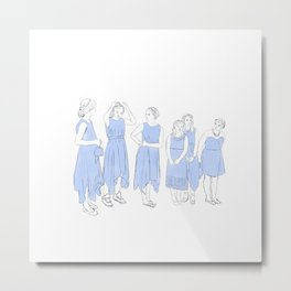 Bridesmaids (blue) Metal Print