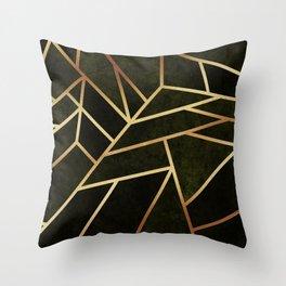 Dark Amber Throw Pillow