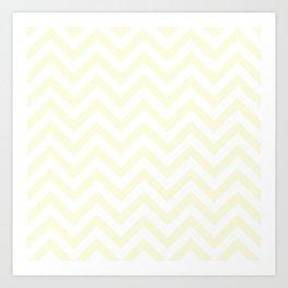Ivory White Chevrons Pattern Art Print