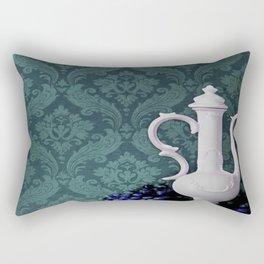 Decanter and Grapes Rectangular Pillow