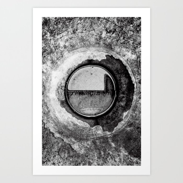 """Aqua Orb Grey"" Art Print"