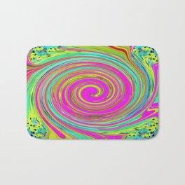 Groovy Abstract Pink Swirl Art 094 Bath Mat