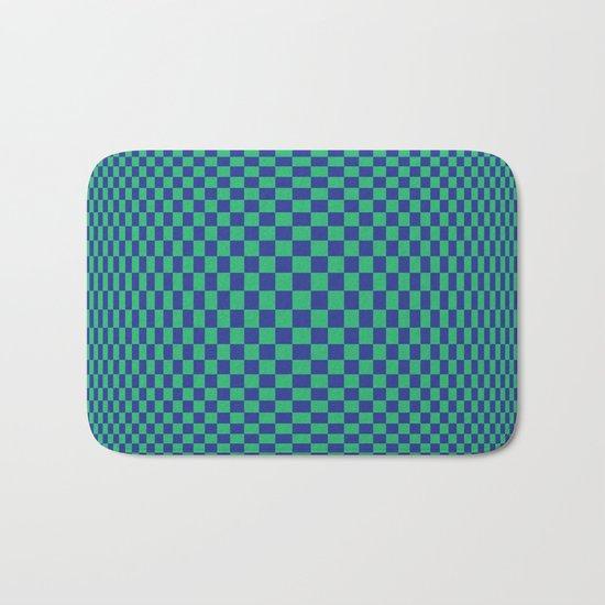 Green and Blue - Optical game Bath Mat