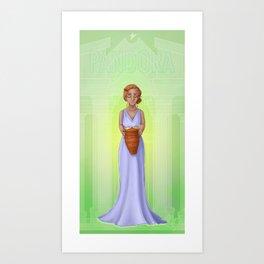 Greek Legends - Pandora Art Print